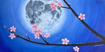 Moon with Cherry Blossoms