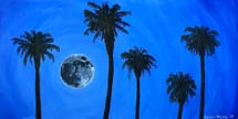 Moon with Palm Trees