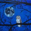 Moon with Owl